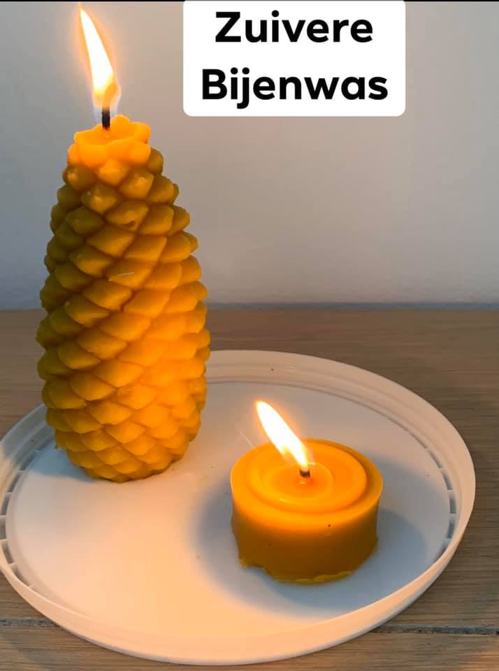 kaarsen van zuivere bijenwas